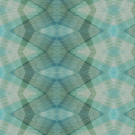 Kaleidoscioe - pastel blues, greens fabric by materialsgirl on Spoonflower - custom fabric