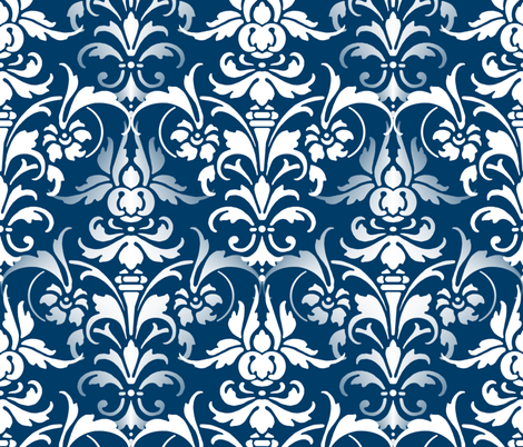 Time Travel Damask fabric by peacoquettedesigns on Spoonflower - custom fabric
