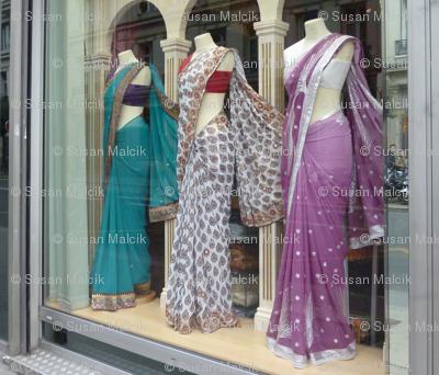 Three Saris in the Window