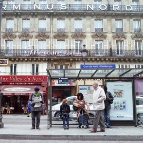 Bus Stop Opposite of Gare du Nord, Paris