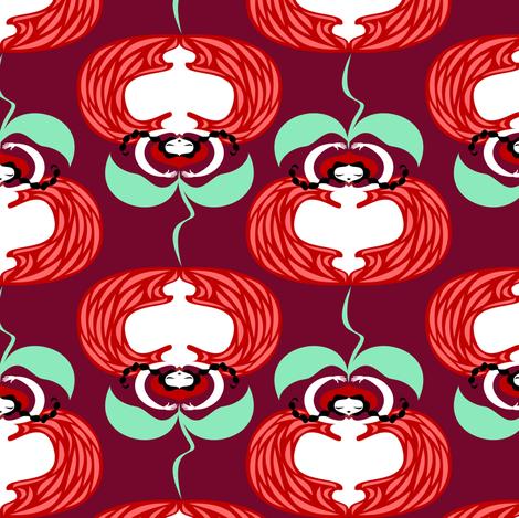 lady-tomato fabric by gaiamarfurt on Spoonflower - custom fabric