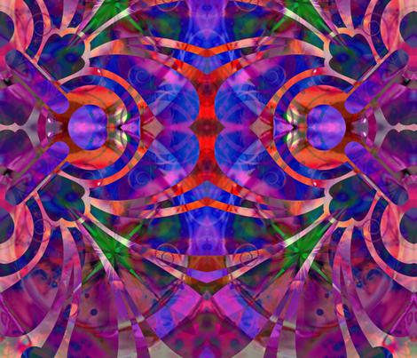 fan fabric by ekeskleurdesign on Spoonflower - custom fabric