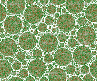 green white brown circles