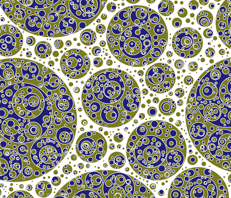 gold blue circles fabric by craige on Spoonflower - custom fabric