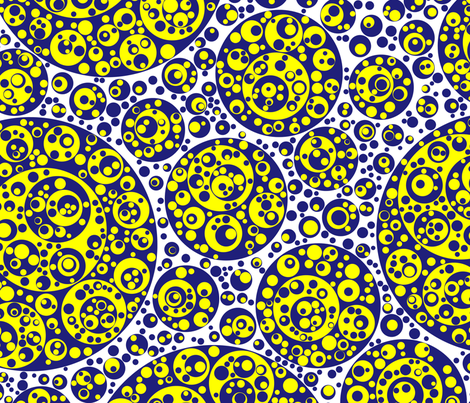 blue yellow circles fabric by craige on Spoonflower - custom fabric