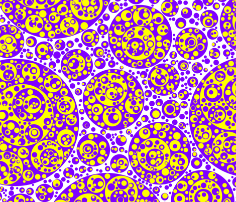 purple yellow circles fabric by craige on Spoonflower - custom fabric