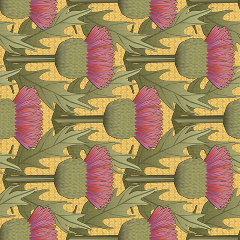 Turn90 Honey and Thistle fabric by glimmericks on Spoonflower - custom fabric