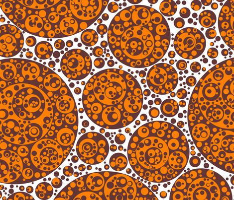 brown orange circles fabric by craige on Spoonflower - custom fabric