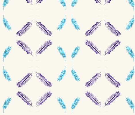 feathers fabric by linsassy on Spoonflower - custom fabric