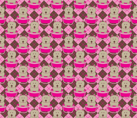 Purse Puppies fabric by robyriker on Spoonflower - custom fabric