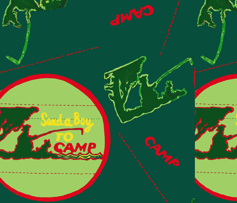 Camp Green fabric by bettieblue_designs on Spoonflower - custom fabric