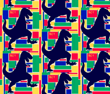 Boy Rex  fabric by bettieblue_designs on Spoonflower - custom fabric