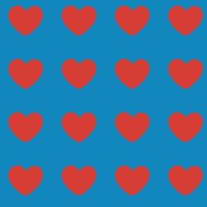 I Heart Blue Decal