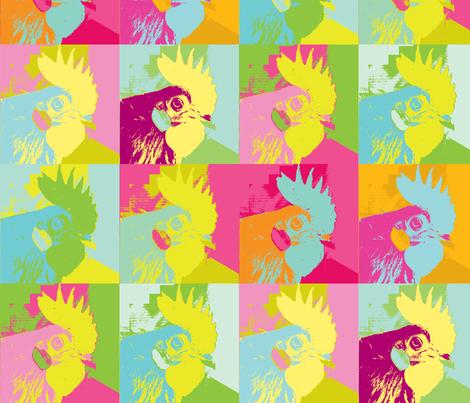 Rooster Monroe fabric by saartje on Spoonflower - custom fabric