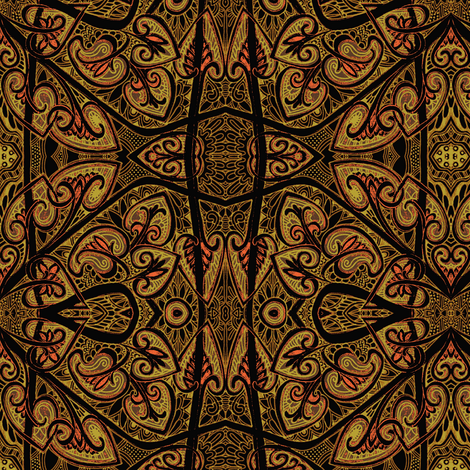 Pseudo Batik Tribal Chocolate Overdose fabric by edsel2084 on Spoonflower - custom fabric