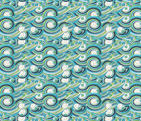 The Deep Blue Sea fabric by bettieblue_designs on Spoonflower - custom fabric