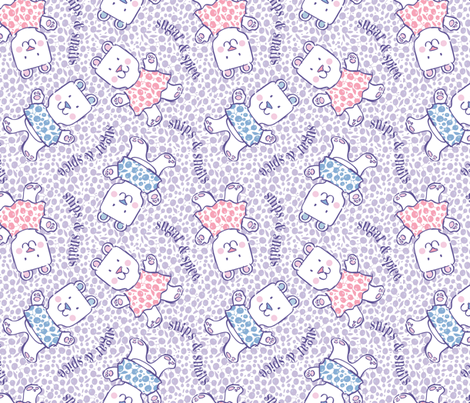 Baby Bears Big Hugs larger scale fabric by gitchyville_stitches on Spoonflower - custom fabric
