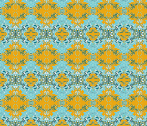 Pumpkin Aqua Abstract fabric by bettieblue_designs on Spoonflower - custom fabric