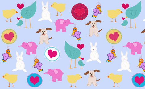 Baby Animals and Birds fabric by cherie on Spoonflower - custom fabric