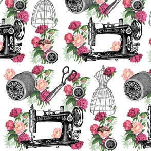 Vintage Sewing and Roses
