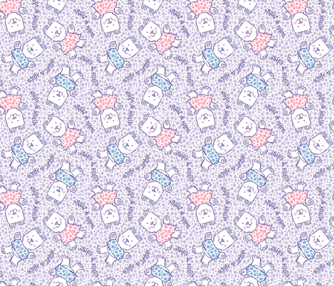 Baby Bears Big Hugs smaller scale fabric by gitchyville_stitches on Spoonflower - custom fabric
