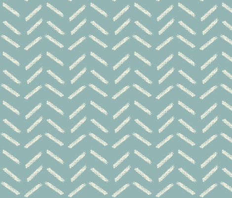 crayon chevrons in teal fabric by mezzime on Spoonflower - custom fabric