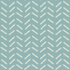 crayon chevrons in teal