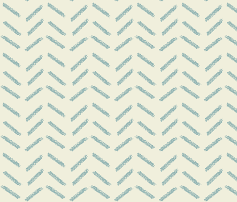 crayon chevrons in tan fabric by mezzime on Spoonflower - custom fabric