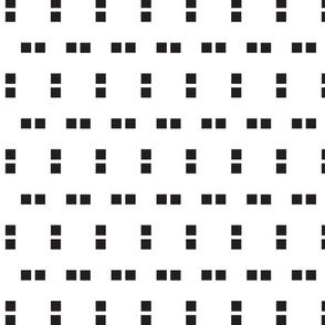 Black and White Squares Print