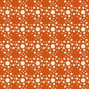 Speckle dots in orange