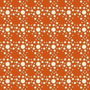 Speckle dots in orange
