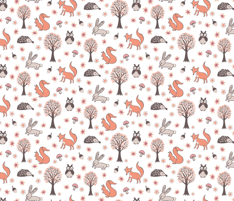 Forest Babies fabric by kezia on Spoonflower - custom fabric