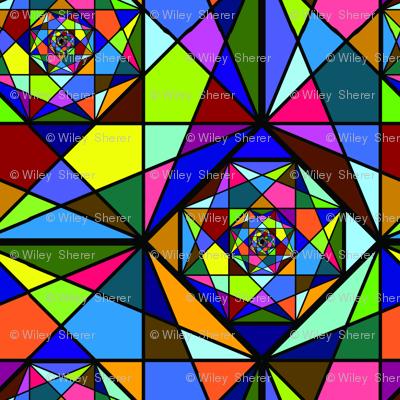 Octogon Fractals - Multicolor