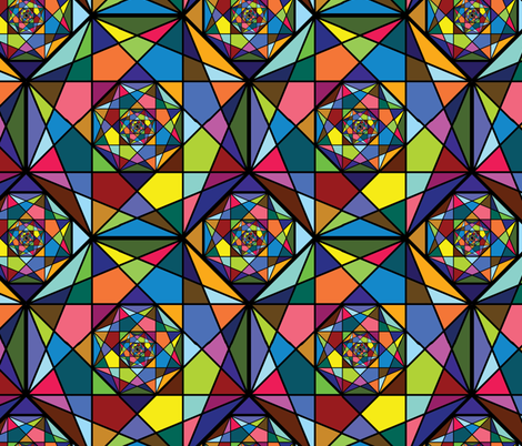 Octogon Fractals - Multicolor fabric by antieuclid on Spoonflower - custom fabric