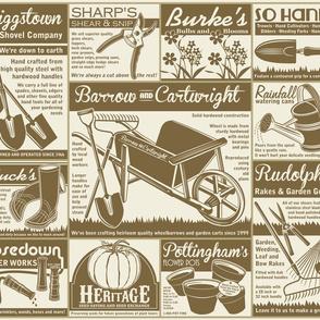 Gardening Tools Advertisements ~ Mushroom