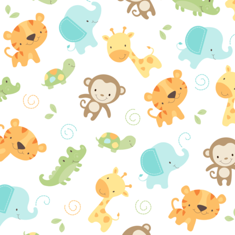 Jungle Babies fabric by maudie&ma on Spoonflower - custom fabric