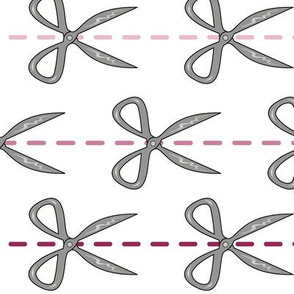 Scissor Pin Stripes in Pink