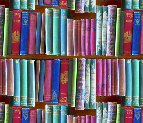 bookcase large  full colour fabric by callioperosehandcarjones on Spoonflower - custom fabric