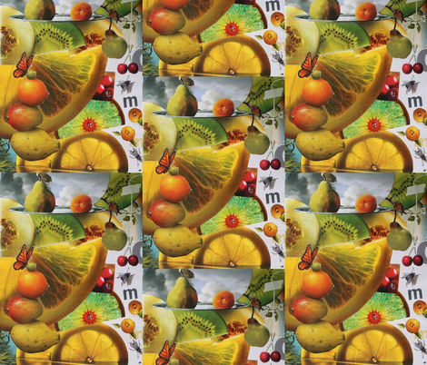Summer Citrus fabric by leataliercio on Spoonflower - custom fabric