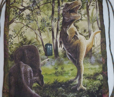 t-rex finds a police box