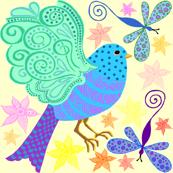 bird zentangle light