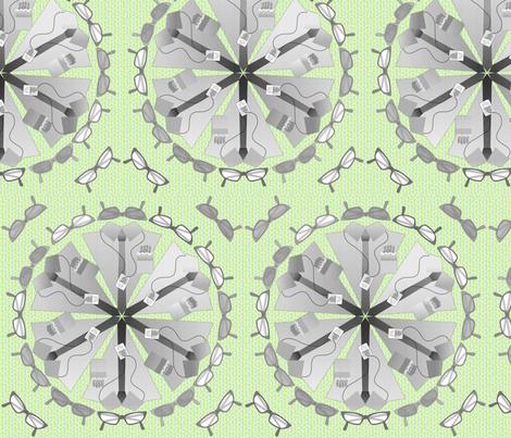 gdc mandala lime fabric by glimmericks on Spoonflower - custom fabric