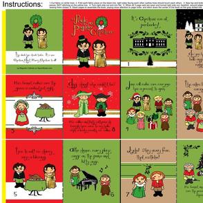 A Pride and Prejudice Christmas cloth quiet fabric book.