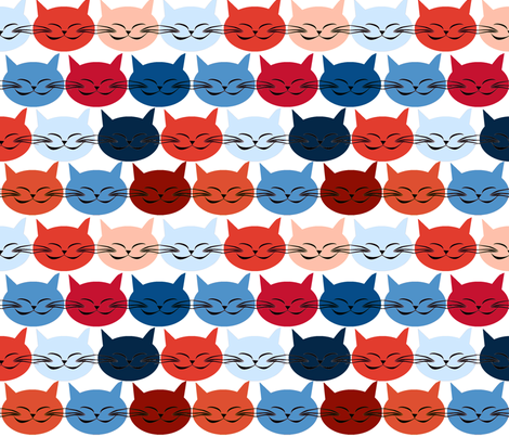 chat_c_est_toi_le_chat_bleu_r_L fabric by nadja_petremand on Spoonflower - custom fabric