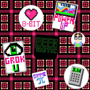 I Grok Geeky 8-bit Flair