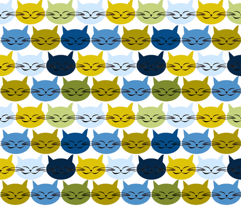 chat_c_est_toi_le_chat_bleu_v_L fabric by nadja_petremand on Spoonflower - custom fabric