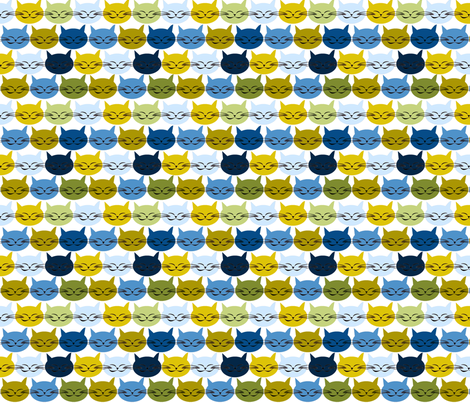 chat_c_est_toi_le_chat_bleu_v_M fabric by nadja_petremand on Spoonflower - custom fabric