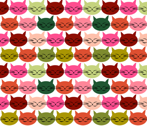 chat_c_est_toi_le_chat_multico_L fabric by nadja_petremand on Spoonflower - custom fabric