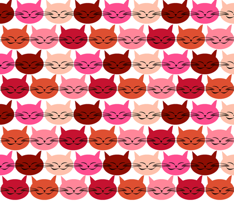 chat_c_est_toi_le_chat_rouge_M fabric by nadja_petremand on Spoonflower - custom fabric