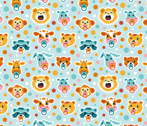 Well roared little lion! fabric by tabula_rosi on Spoonflower - custom fabric